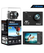 iRULU Action Camera 4K 16MP WiFi Adjustable View Angle Sports Camera wit... - $70.04