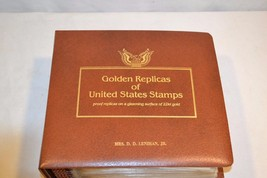 22K Gold Replica First Day Cover Stamp Set w Binder 1981 - 1983   41 Sets - $50.00