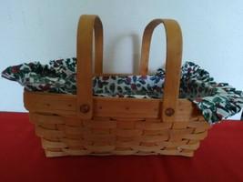 Longaberger Medium Gathering Basket Fabric Plastic Insert Lining New 1995 - $45.00