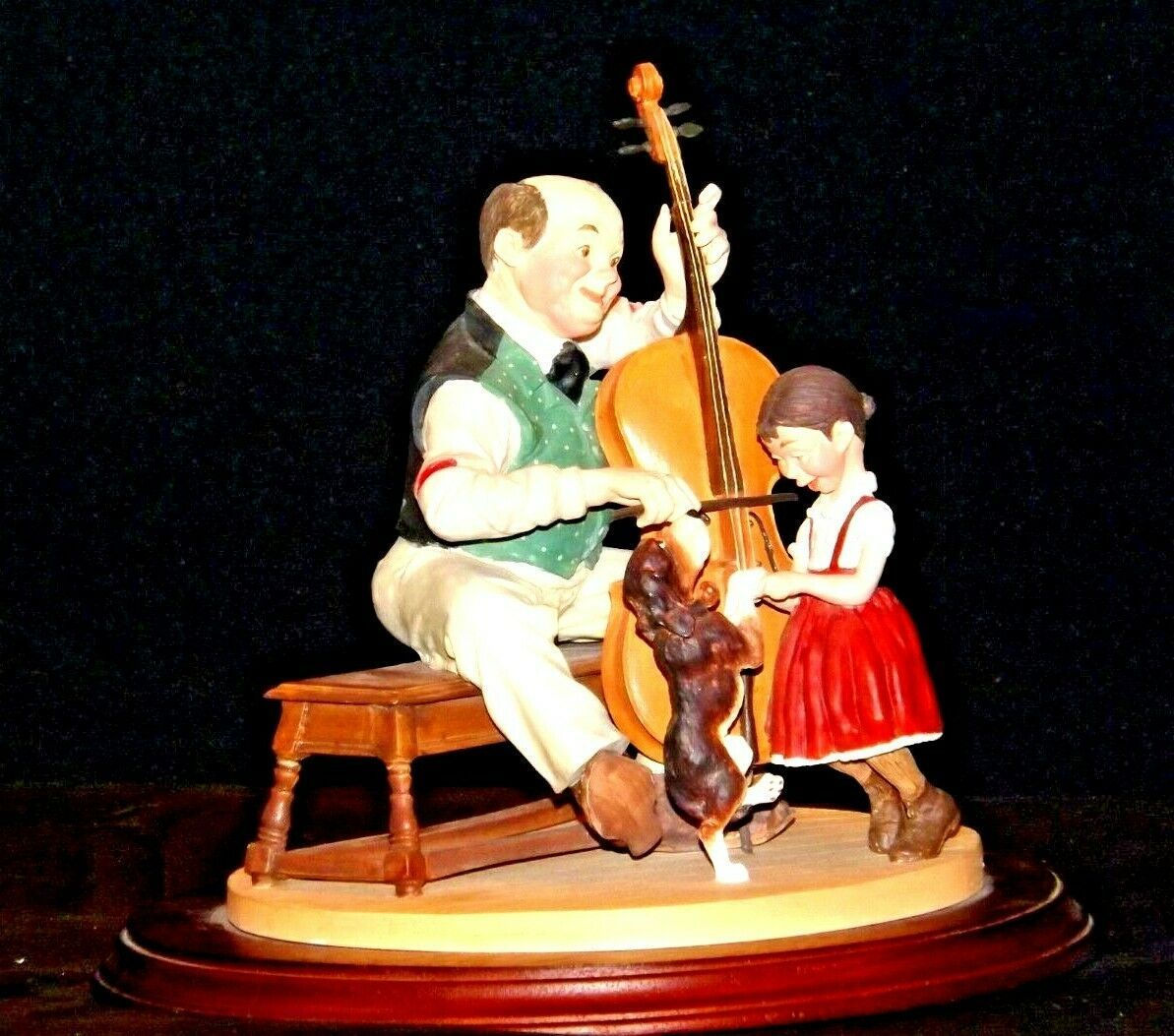 """1992 Days to Remember - Norman Rockwell """"The Fiddler"""" Figurine AA19-1611 Vinta"""
