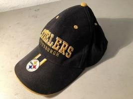 Vintage 90's Pittsburgh Steelers - Black And Gold NFL Snapback Hat - $17.23
