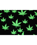 50 Piece Glow in the Dark Marijuana Weed Pot Leafs - $11.95