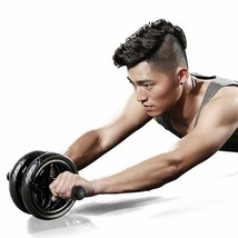 Keep Fit Wheels No Noise Abdominal Ab Roller With Mat For Arm Waist  Leg... - $21.99