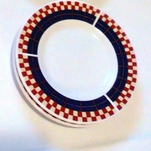 "Majesticware By Oneida Bread Plates Calico Rooster 2000 6 1/2"" Around Set Of 2 - $7.92"