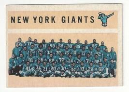 1960 Topps Football - New York Giants Team Card - #82 - VG Condition - $5.93
