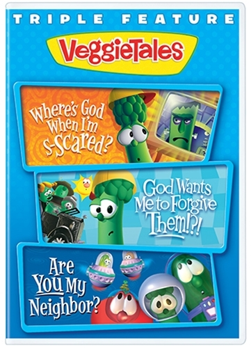 Triple feature vol 2  where s god god wants neighbor  by veggie tales   dvd