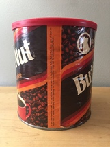 Vintage 1980s Butter-Nut Coffee Can with Original Cover image 3