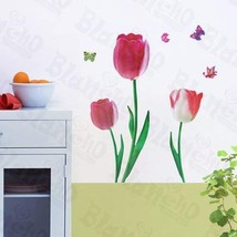 Romantic Flowers - Wall Decals Stickers Appliques Home Decor - $6.43