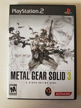 PS2 - Metal Gear Solid 3 Tactical Espionage - Disc and Case - Tested - $11.87