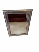 "Framed Silver Wall Mirror 23"" x 30"" Original Price $199 Rectangular Rectangle image 10"
