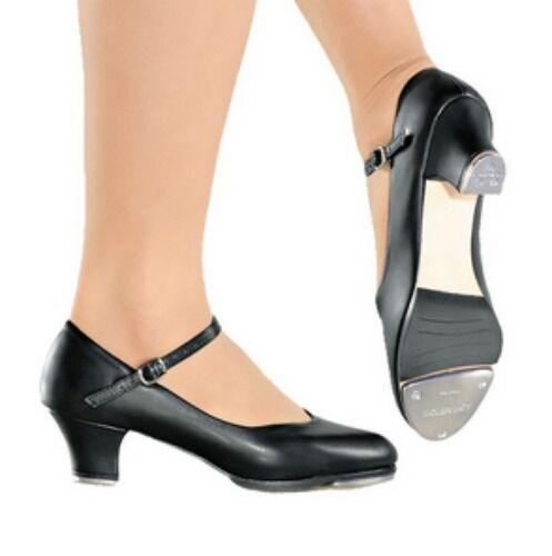 "So Danca TA55 Black Women's 9 (Fits 7.5) Medium 1.5"" Heel Character Tap Shoe"