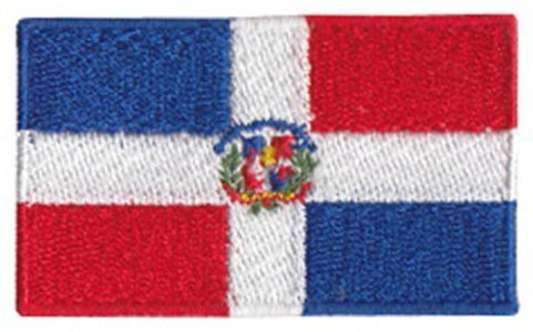 Dominican Republic Embroidered Patch - 2 1/4 x 1 1/4 ""