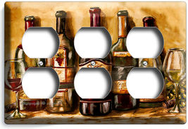 VINTAGE TUSCAN WINE BOTTLES COLLECTION LIGHT SWITCH OUTLET PLATES KITCHEN DECOR image 12