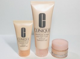 3pc Clinique Moisture Surge Overnight Mask & Extended Thirst Relief - $19.31