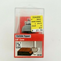 """Vermont American 23140, 3/8"""" Cove Router Bit, 1/4"""" Shank, Carbide Tipped - $15.50"""