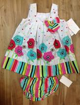 Bonnie Baby Girls' Sleeveless Dress, Aqua, Size 18 Months - $19.79