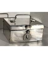 Napier Art Deco Silver Plate Locking Combination Box - $44.55