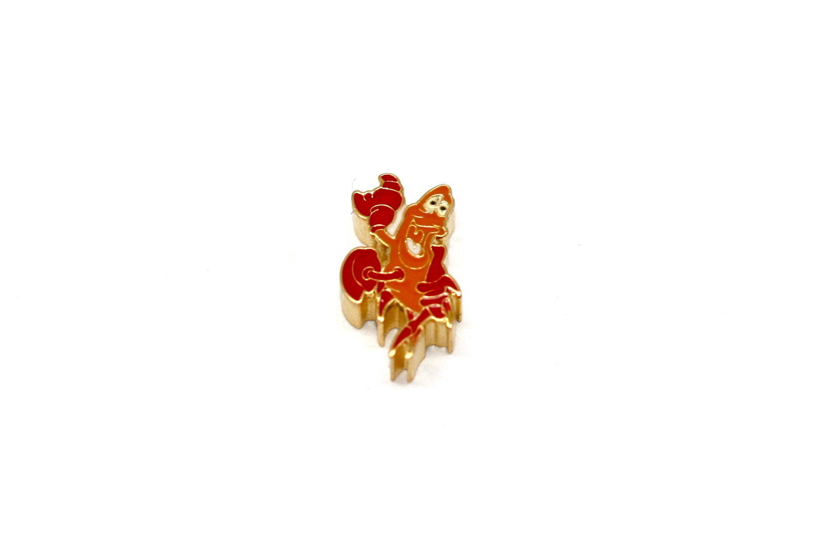 BRACCIALE DISNEY LITTLE MERMAID CRAB GOLD STAINLESS STEEL GOLD PLATED CHARM