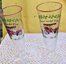 Set of Two 1905 Buick Model C Beer Glasses Mid-Century 1950s - $14.50