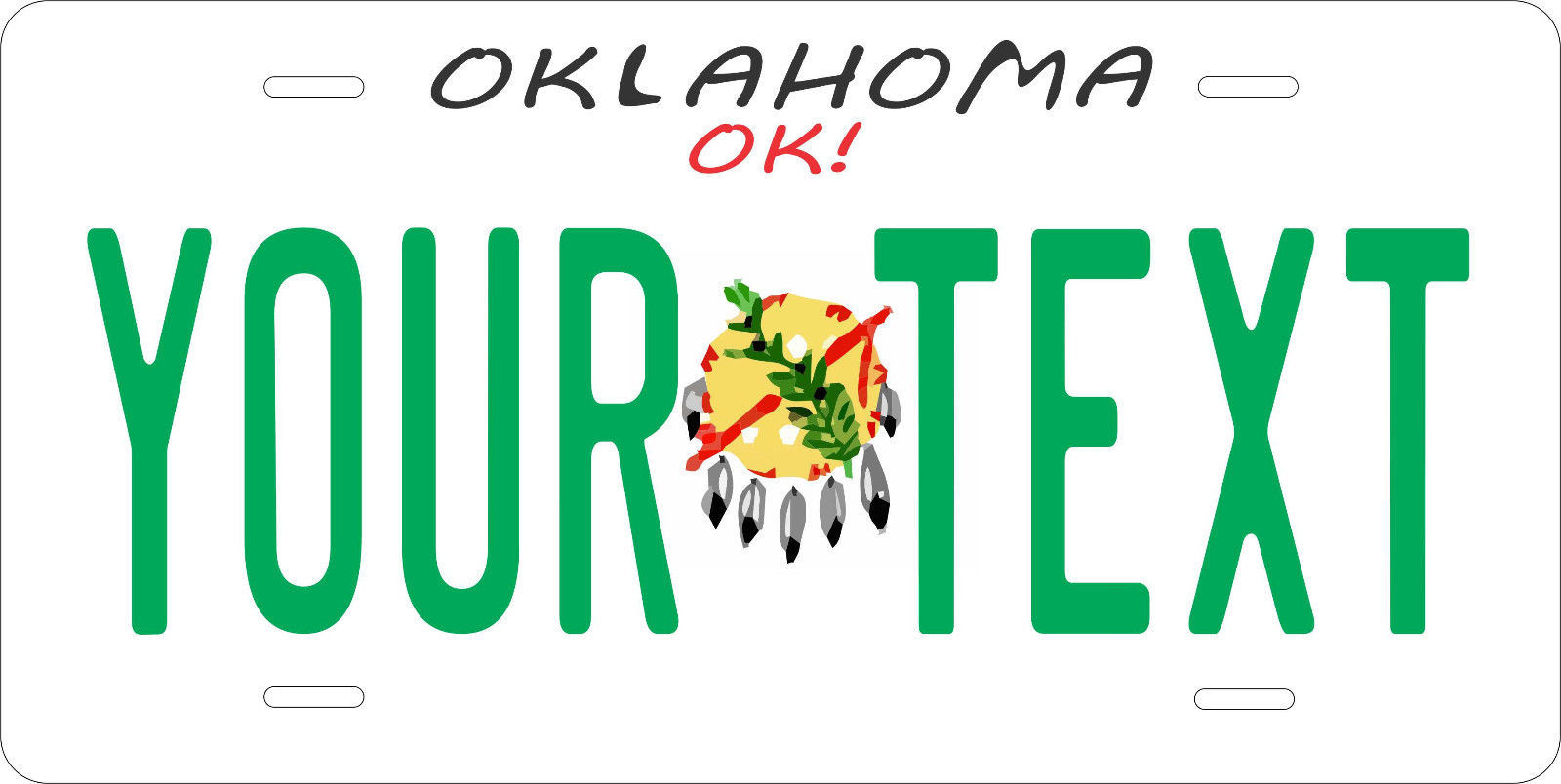 Oklahoma 1954 License Plate Personalized Custom Auto Bike Motorcycle Moped