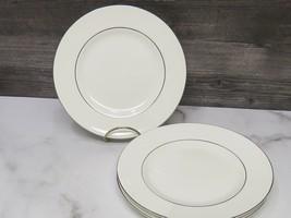 "4 Wedgwood Bone China SIGNET PLATINUM Salad Dessert plates 8"" - $43.56"