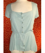 NWT ALFANI soft rayon blend sea foam green cap sleeve tunic blouse M (T1... - $17.80
