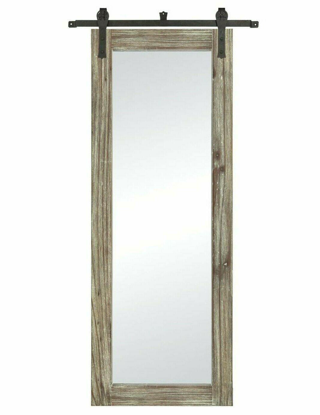 "Dressing Mirror Salvaged Wood Bronze Iron Hardware Modern Farmhouse Rustic 70"" - $311.84"