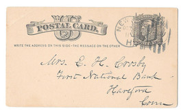 UX5 New York Station H DPO Sta Duplex Ellipse Cancel 1867-1947 Postal Card - $6.99