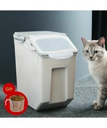 Pet Dry Food Bucket Dog Food Storage Container With Spoon Food Storage C... - $56.45+