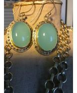 Jamie Young Chalcedony Pendat & Earring set - $165.00