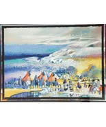 "1991 Signed Earl Biss ""Red Lodge"" 167/300 Native American Serigraph Art ... - $2,500.49"