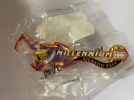 Hard Rock Cafe Atlantic City Millennium Guitar Pin Purple Red Collectible HRC - $23.25