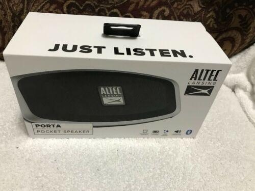 Altec Lansing IMW279-BLK Porta Pocket Bluetooth Speaker - Black-NEW