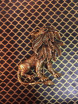 Beautiful vintage lion brooch - $8.00
