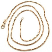 18K ROSE GOLD CHAIN 1.2 MM SQUARE FRANCO LINK, 17.7 INCHES, 45 CM MADE IN ITALY  image 1