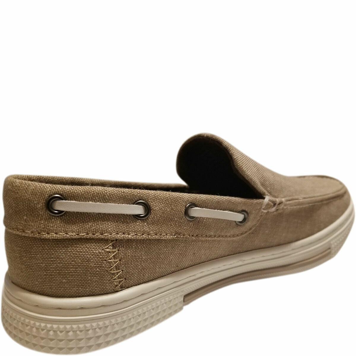 Kenneth Cole Reaction Men's Ankir Canvas Slip-on Boat Shoes Beige Sand 9.5 M ... image 5