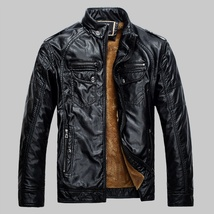Hot ! High Quality New Winter Fashion Men's Coat Leather Jacket (male coat color image 5