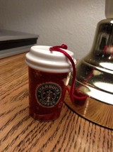 Starbucks 2008 Christmas Ceramic Ornament Red To Go Cup Deer - $13.97