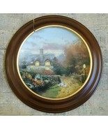 THOMAS KINKADE Collector Plate OPEN GATE COTTAGE W/WOODEN FRAME Limited ... - $51.46
