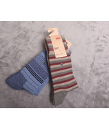 NWT NEW LEVI'S 168SF Four Pairs Mens SOCKS Multicolored Size 9-12 Combed... - $28.33