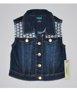 Girls' Sleeveless Denim/Lace Vest Genuine Kids from OshKosh  Dark Blue 5T - $7.50
