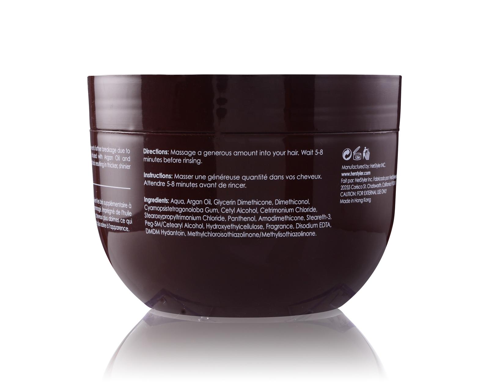 Herstyler Argan Oil Hair Mask   Hair Mask For Damaged Hair   500 ml. / 18 fl.oz.