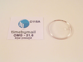 For OMEGA SEAMASTER 31.6mm Date Silver Armoured Watch Glass Crystal Part... - $24.54