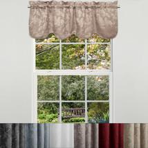 "Flora Scrolling Leaf Jacquard Scalloped Window Curtain Valance 18""x52"" - $15.09"