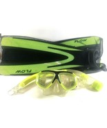 Body Glove Flow Flippers Dry Snorkel Clear Cut Goggles EUC - $25.87