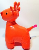Manhattan Toy Vinymals Giraffe Orange Plush RARE Shiny Vinyl Stuffed Ani... - $59.99