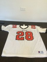 Tampa Bay Buccaneers Bucs Warrick Dunn White Champion Jersey 48 Excellen... - $39.59