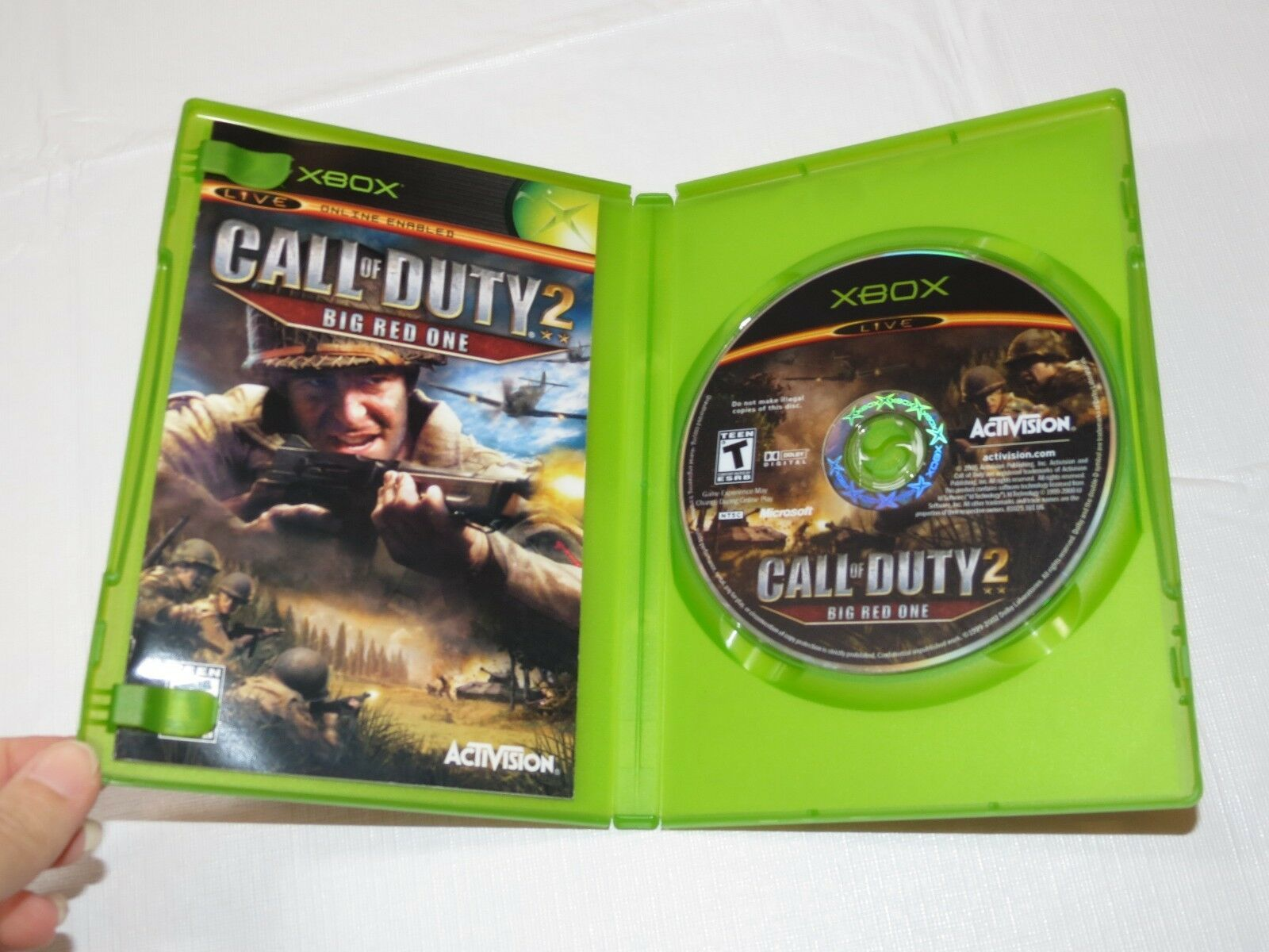 Call Of Duty 2: Big Red One Microsoft Xbox 2005 T-Teen Sparatutto Usato