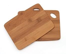 Lipper International 849 Bamboo Wood Thin Kitchen Cutting Boards with Ov... - £9.21 GBP