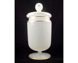 Vintage white gold opaque glass candy jar western germany 2 thumb155 crop